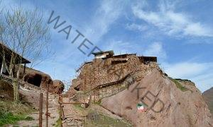 Alamut Castle in the Alamut valley in the Alborz mountains.