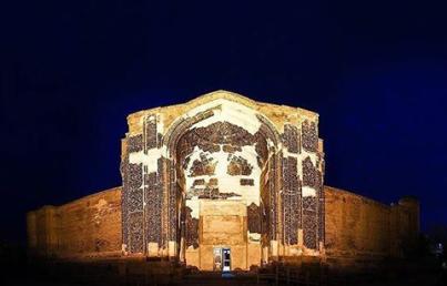 Kaboud Mosque Entrance door