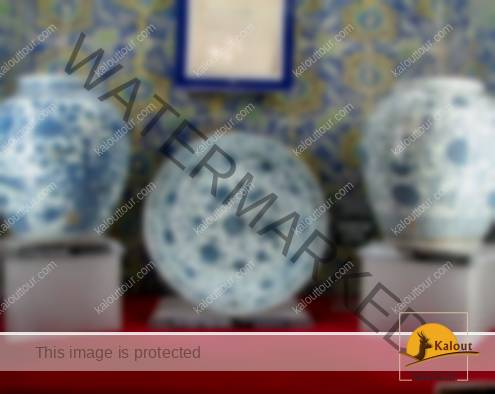 Chinaware at Chini Khaneh of Sheikh Safi Shrine Complex in Ardabil