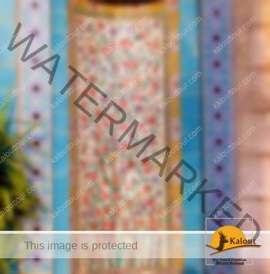 Tiles Decorating the Entrance of Saadi Mausoleum