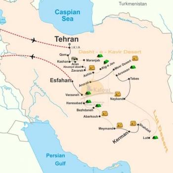 Iran-Desert-Map