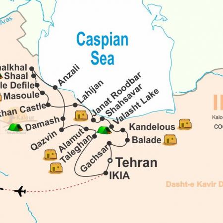 Cycling Tour Map