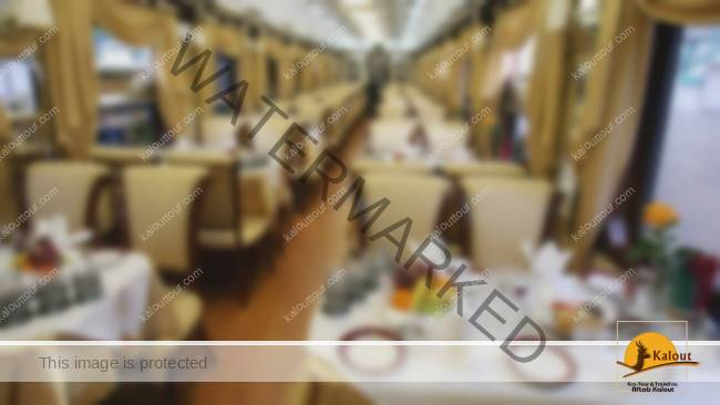 """A view of the interior of the """"Golden Eagle"""" train that has just arrived in Iran in a maiden trip that started from Russia."""