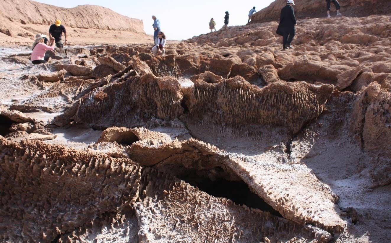 Lut Desert, Salt Crystals