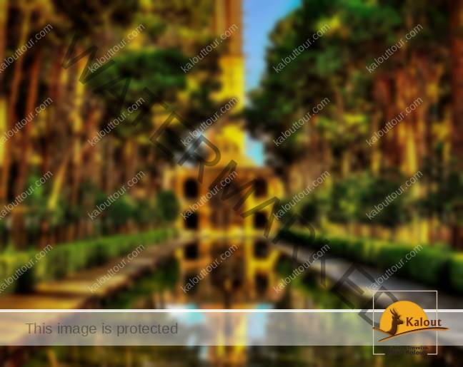the tall Wind Towers of Dowlat Abaad Garden, Yazd Province